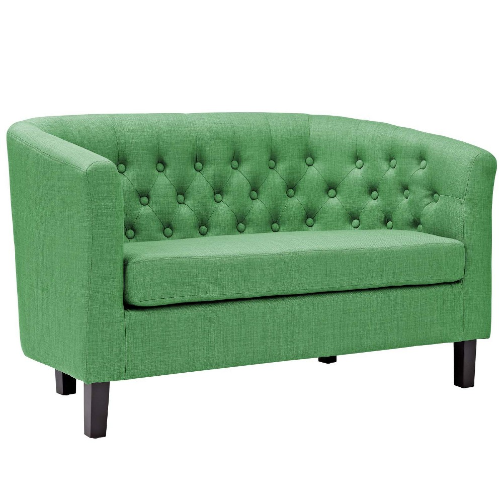 Prospect Upholstered Fabric Loveseat Kelly Green - Modway