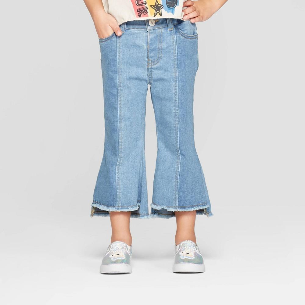 Toddler Girls' Two Toned Denim Pants - art class Blue 18M