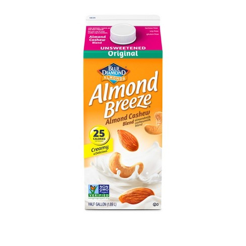 Almond Breeze Unsweetened Original Almond Milk Cashew Milk Blend - 0.5gal - image 1 of 1