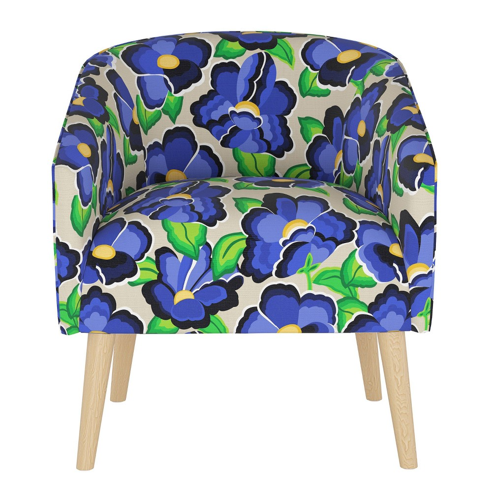 Deco Chair in Carla Floral Blue - Cloth & Co.