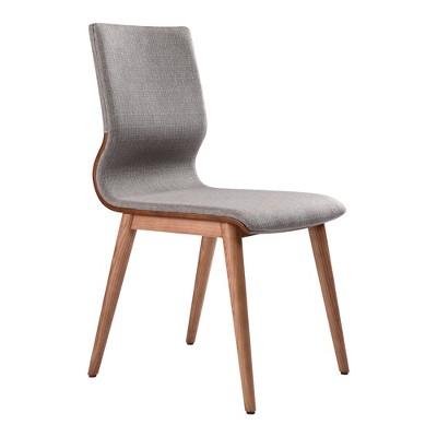 Set of 2 Valdez Mid Century Dining Chair Gray - Modern Home