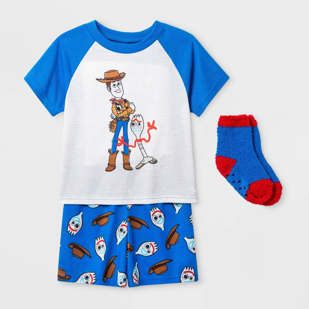 Image of Boys' Toy Story 2pc Pajama Set with Socks - Blue 2T, Boy's
