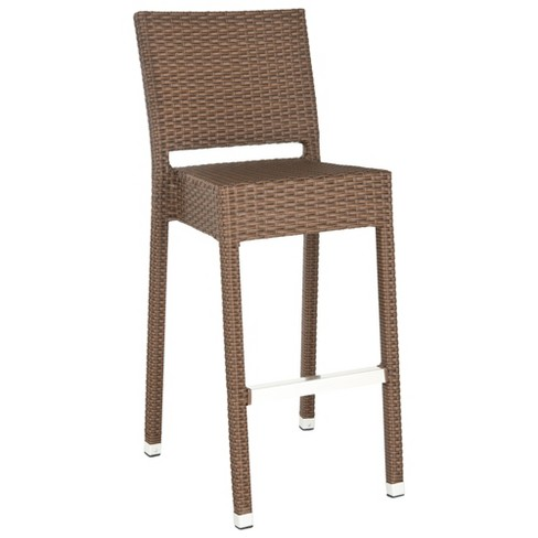 Sarcelles Wicker Patio Barstool - Safavieh® - image 1 of 5