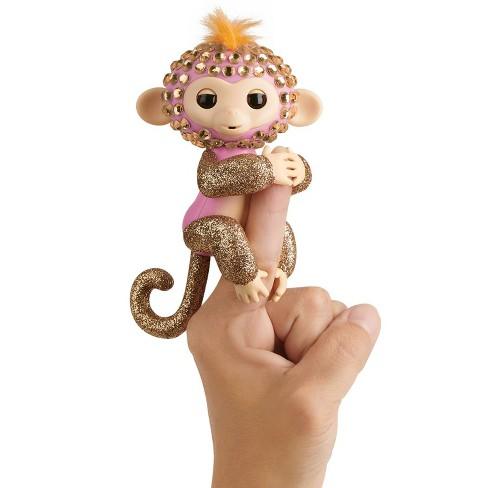 Fingerlings Interactive Fingerbling Monkey - Glimmer - Pink/Rose/Gold