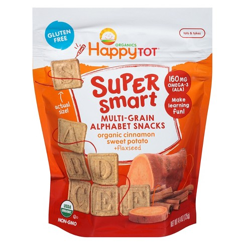 Happy Tot Crackers And Biscuits, baby Food Sweet Potatoes - 4.4oz - image 1 of 4