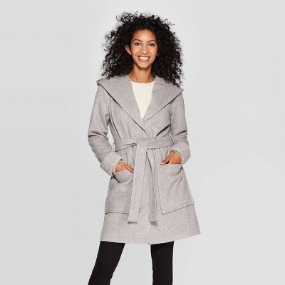 womens-hooded-wrap-jacket---a-new-day-gray by a-new-day