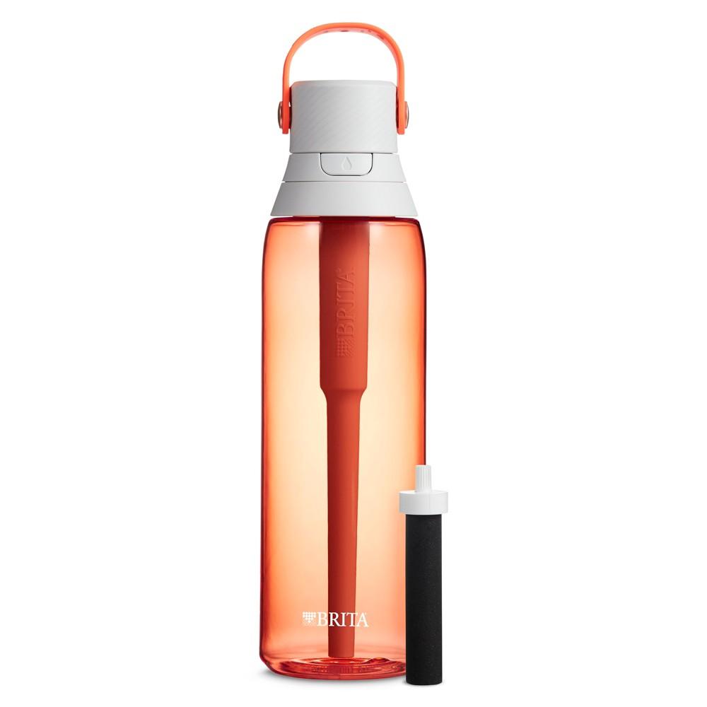 Image of Brita Premium 26oz Filtering Water Bottle with Filter BPA Free - Coral