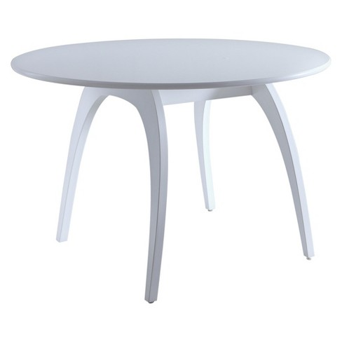 Beckett Round Dining Table Glossy White - Hives & Honey - image 1 of 4