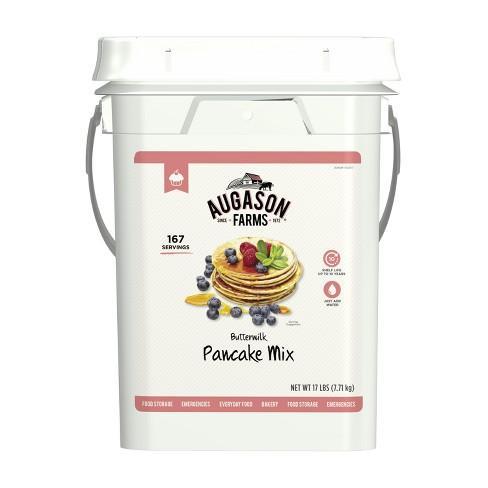 Augason Farms Buttermilk Pancake Mix Emergency Bulk Food Storage 4 Gallon Pail 167 Servings - image 1 of 4