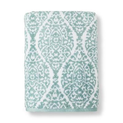 Bath Sheet Performance Texture Bath Towels And Washcloths White/Surf - Threshold™