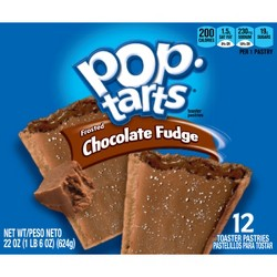 Pop-Tarts Frosted Chocolate Fudge Pastries - 12ct/20.31oz - Kellogg's