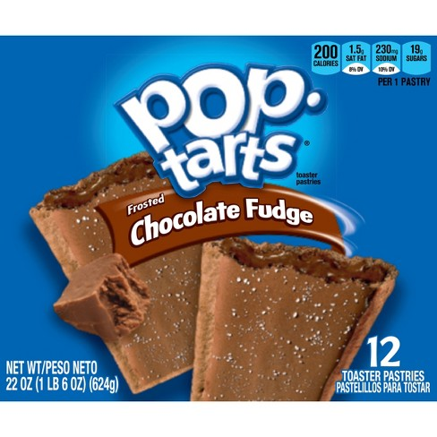 Pop-Tarts Frosted Chocolate Fudge Pastries - 12ct/20.31oz - Kellogg's - image 1 of 4