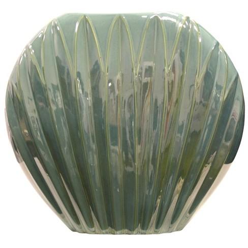 Decorative Vase Sea Shell Bluegreen Target