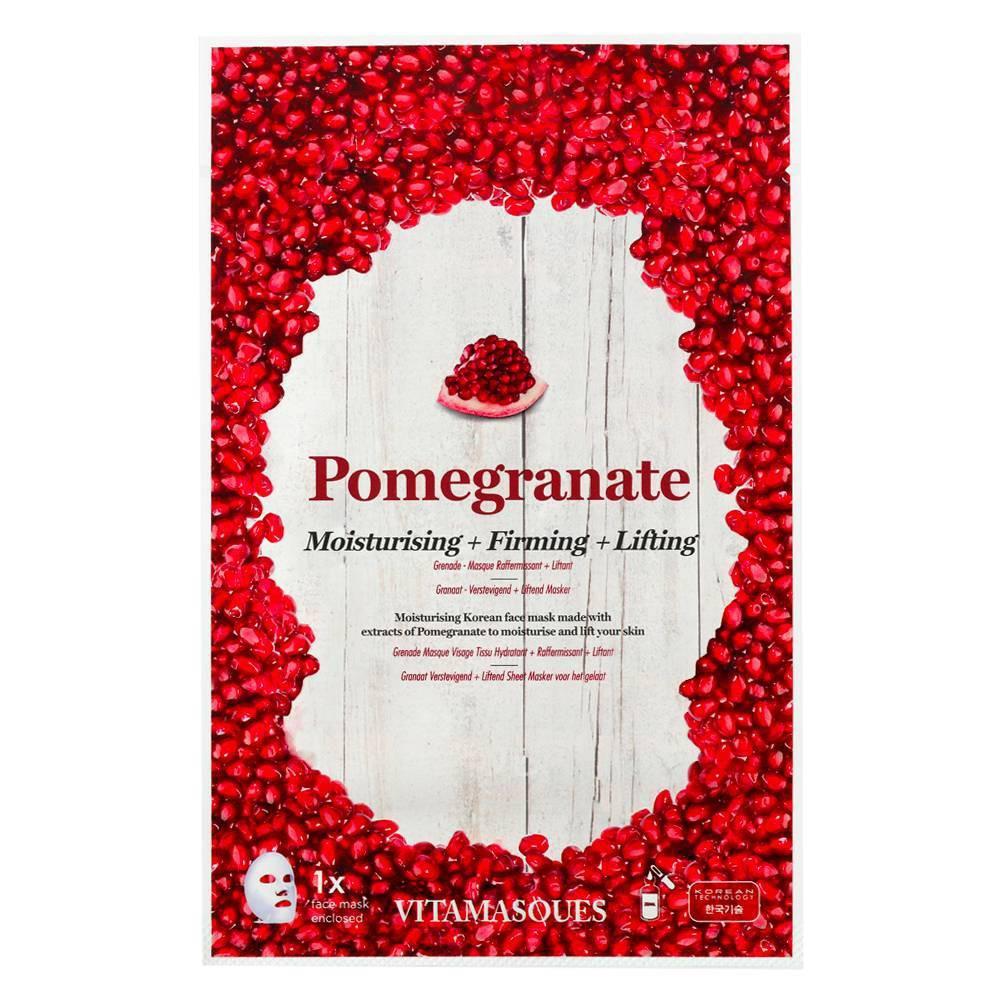 Image of Vitamasques 3 in 1 Pomegranate Sheet Mask - 0.68 fl oz