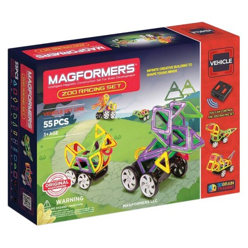 Magformers Zoo Racing 55 PC Set - image 1 of 4