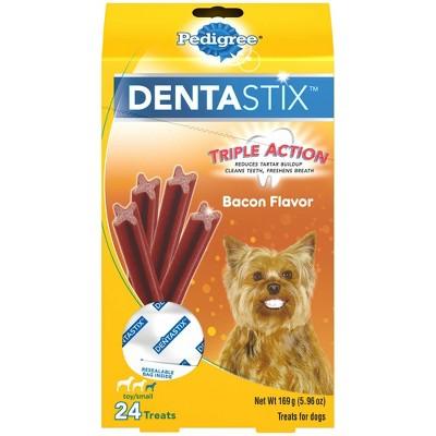 Pedigree Dentastix Bacon Flavor Small Toy Dental Dental Dog Treats - 24ct