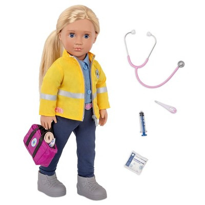 """Our Generation 18"""" Paramedic Doll with Medical Kit - Kaylin (EMT)"""