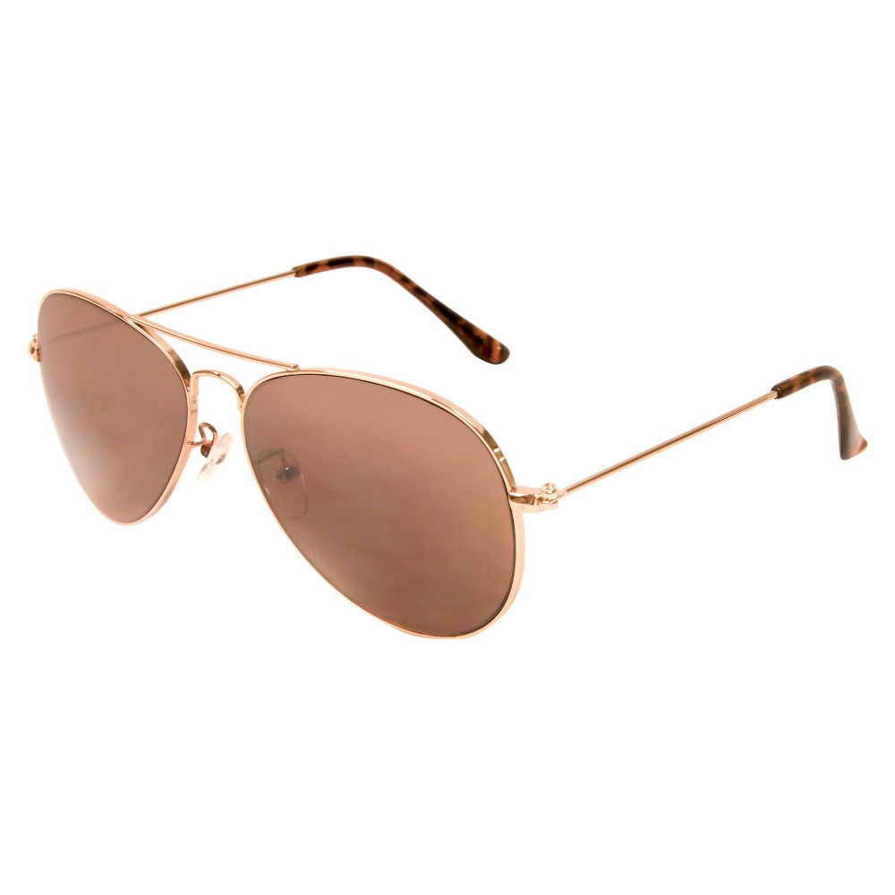 Men's Aviator Sunglasses- Gold Men's Aviator Sunglasses - Gold offer a classic look for summertime and beyond. These sunglasses for men combine warm gold-tone frames, brown-tinted lenses and tortoise-shell temple tips. Plus, they help shield your eyes from harmful UV rays. Gender: Male. Age Group: Adult. Pattern: Solid.