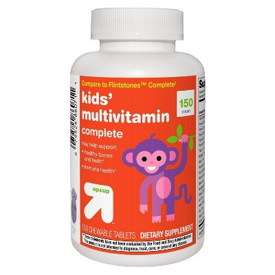 Kids' Complete Multivitamin Chewable Tablets - Orange, Grape & Cherry - 150ct - up & up™