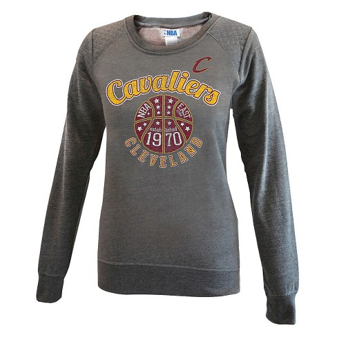 Cleveland Cavaliers Women's Gray Quilted Shoulder Sweatshirt M - image 1 of 2