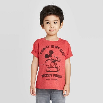 Toddler Boys' Disney Mickey Mouse T-Shirt - Red