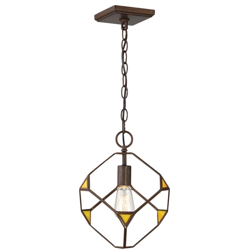 Image of Cubert 1-Light Cube Pendant Rustic Bronze - Rogue Decor Co.