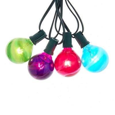 Kurt Adler 10-Light G50 Multi-Color Glass Ball Light Set