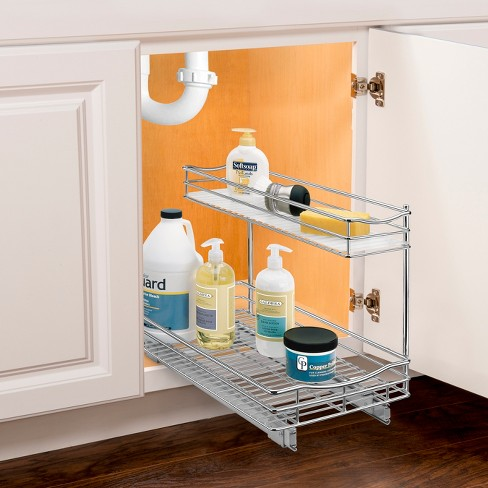 Link Professional 11 5 X 18 Slide Out Under Sink Cabinet Organizer Pull Two Tier Sliding Shelf Target