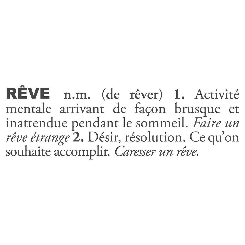 Rêve Definition Wall Decal - Almost Black