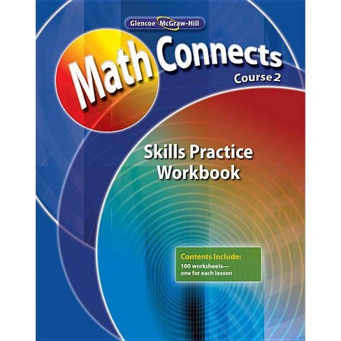 Math Connects, Course 2: Skills Practice Workbook - (Math Connects: Course 2) (Paperback) - image 1 of 1