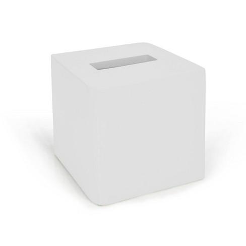Lacquer Tissue Holder White - Cassadecor - image 1 of 4