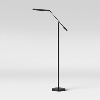 Lemke Wand Floor Lamp (Includes LED Light Bulb) Black - Project 62™