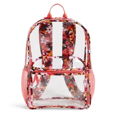 Vera Bradley Women's  Clearly Colorful Large Backpack Set