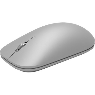 Microsoft Modern Mouse - Wireless - Bluetooth 4.0 - BlueTrack Enabled - Ambidextrous Design - 12 Month Battery Life - Silver