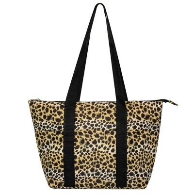 Zodaca Fashion Large Insulated Zip Top Lunch Bag Women Tote Cooler Picnic Travel Food Box Carry Bags