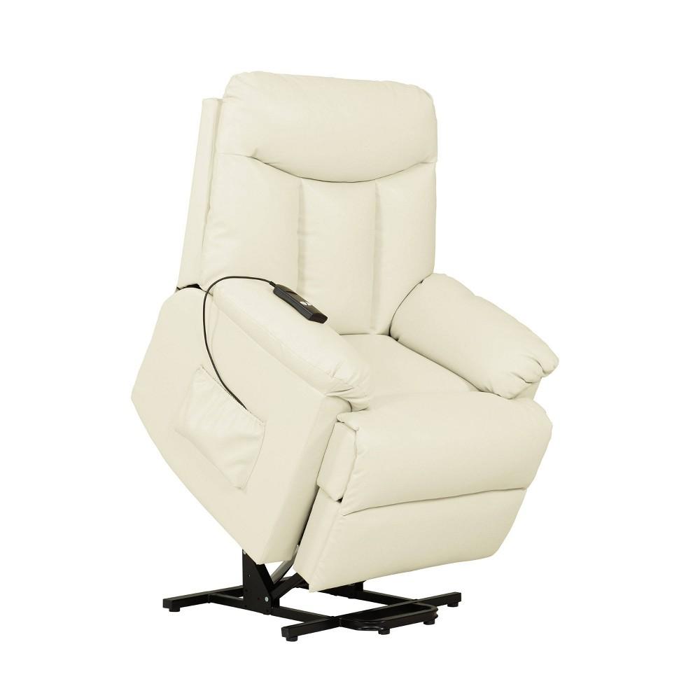 Prolounger Renu Wall Hugger Power Lift Reclining Chair Cream (Ivory) - Handy Living