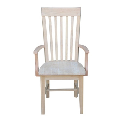 Tall Mission Chair with Arms Unfinished - International Concepts - image 1 of 4