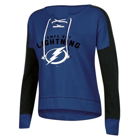 NHL Tampa Bay Lightning Women's Warming House Open Neck Fleece Sweatshirt - image 1 of 1