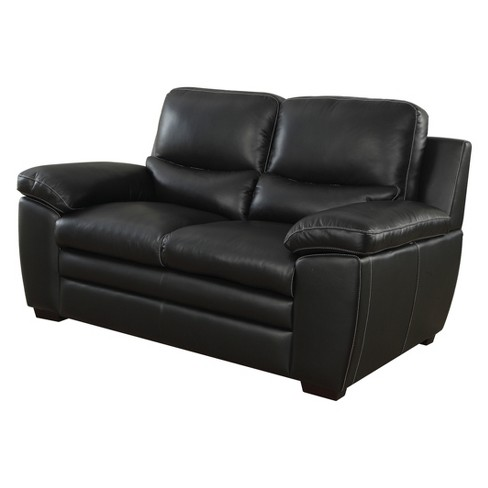 Amazing Iohomes Bonelli Contemporary Leatherette Love Seat Black Homes Inside Out Gamerscity Chair Design For Home Gamerscityorg