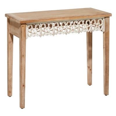 Farmhouse Wood Console Table Medium Brown - Olivia & May