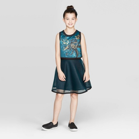 Girls' Descendants 3 Uma Cosplay Dress - Green - image 1 of 3