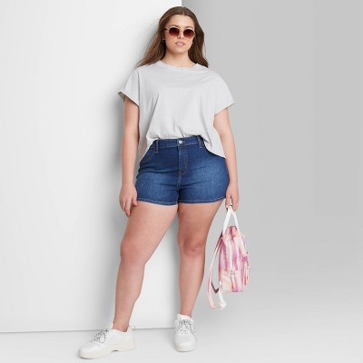Women's High-Rise Jean Shorts - Wild Fable™