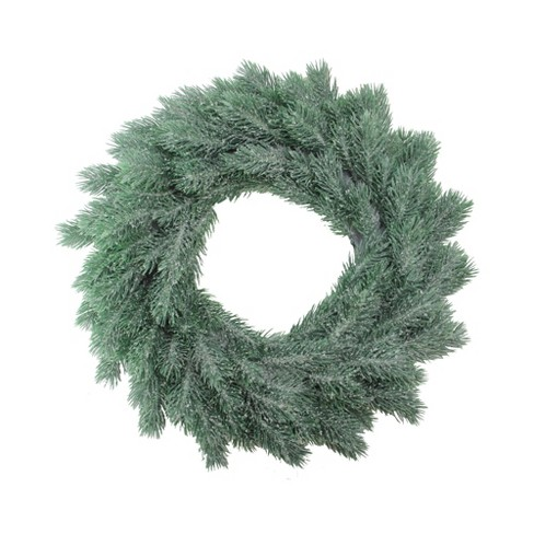 """Northlight 16"""" Unit Frosted Green Pine Artificial Christmas Wreath - image 1 of 3"""