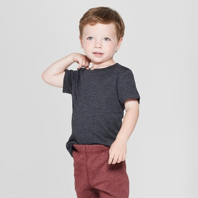 Toddler Boys' Short Sleeve T-Shirt - Cat & Jack™ Black 3T