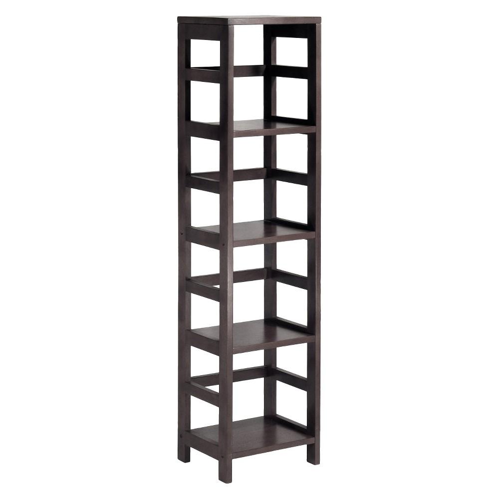 55 4 Section Narrow Bookshelf Espresso - Winsome