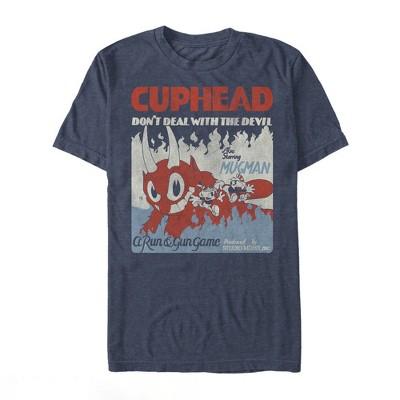 Men's Cuphead Run and Gun Game T-Shirt