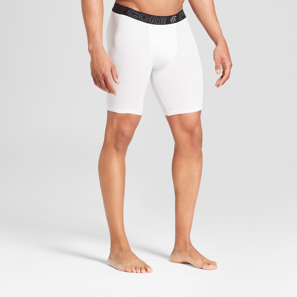 Men's 9 Compression Shorts - C9 Champion White XL