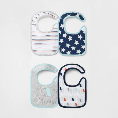 Baby Boys' 4pk Little Peanut Burp Cloth Set - Cloud Island™ One Size
