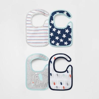 Baby Boys' 4pk Little Peanut Burp Cloth Set - Cloud Island™ One Size