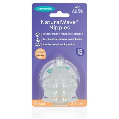 Lansinoh NaturalWAVE BPA-Free Silicone Baby Bottle Nipples - 2pk - image 1 of 4